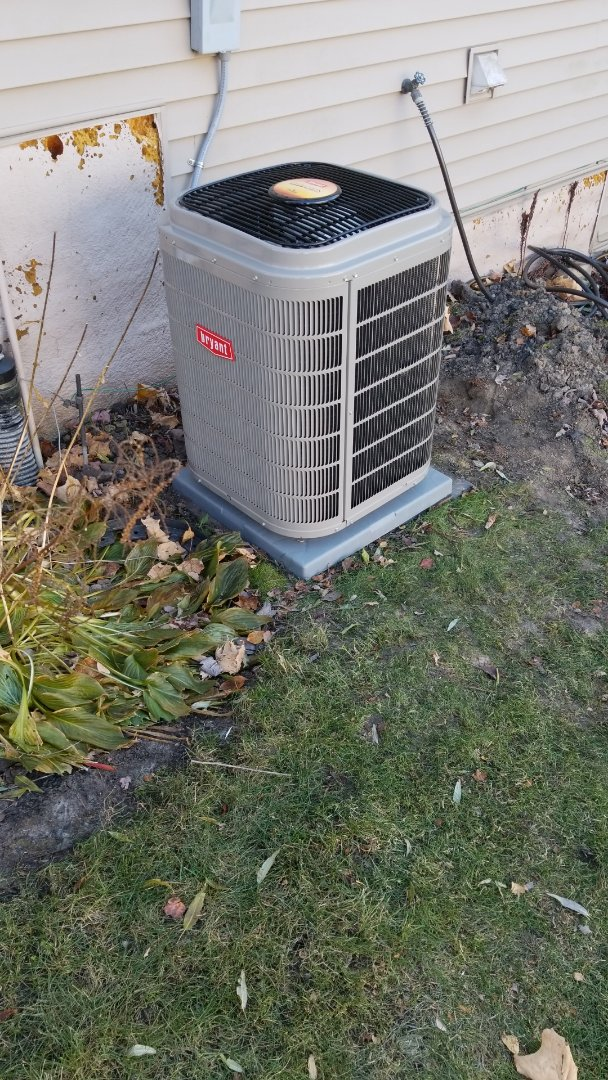 Delano, MN - Installing Bryant Air Conditioner, furnace, humidifier, UV lights and electronic air cleaner in Delano Minnesota