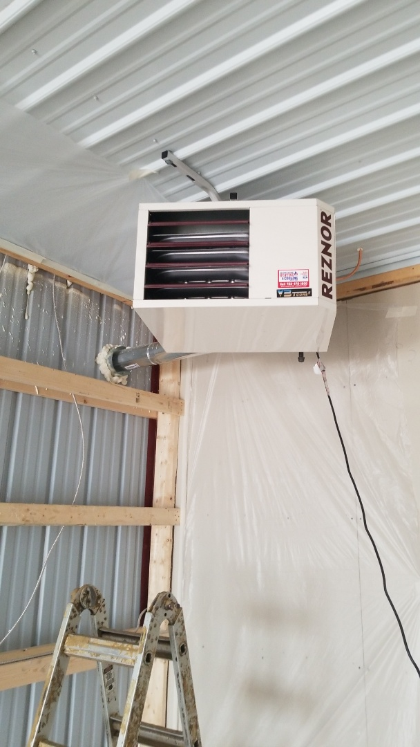Independence, MN - Installing two garage heaters in Maple Plain Minnesota