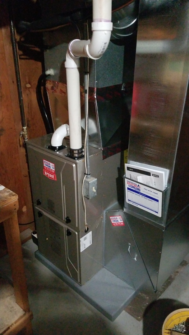 Minneapolis, MN - Installed new Bryant furnace and water heater in St Louis Park Minnesota