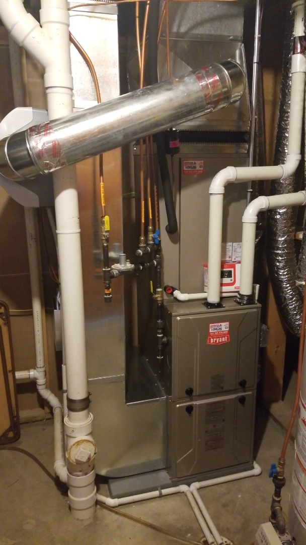 Delano, MN - Installed new Bryant air conditioner and furnace in Delano Minnesota