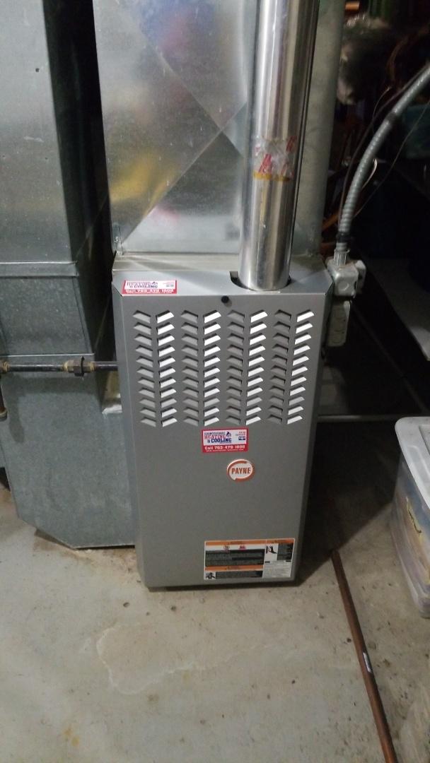 Wayzata, MN - Installing new blower motor on furnace in Wayzata Minnesota