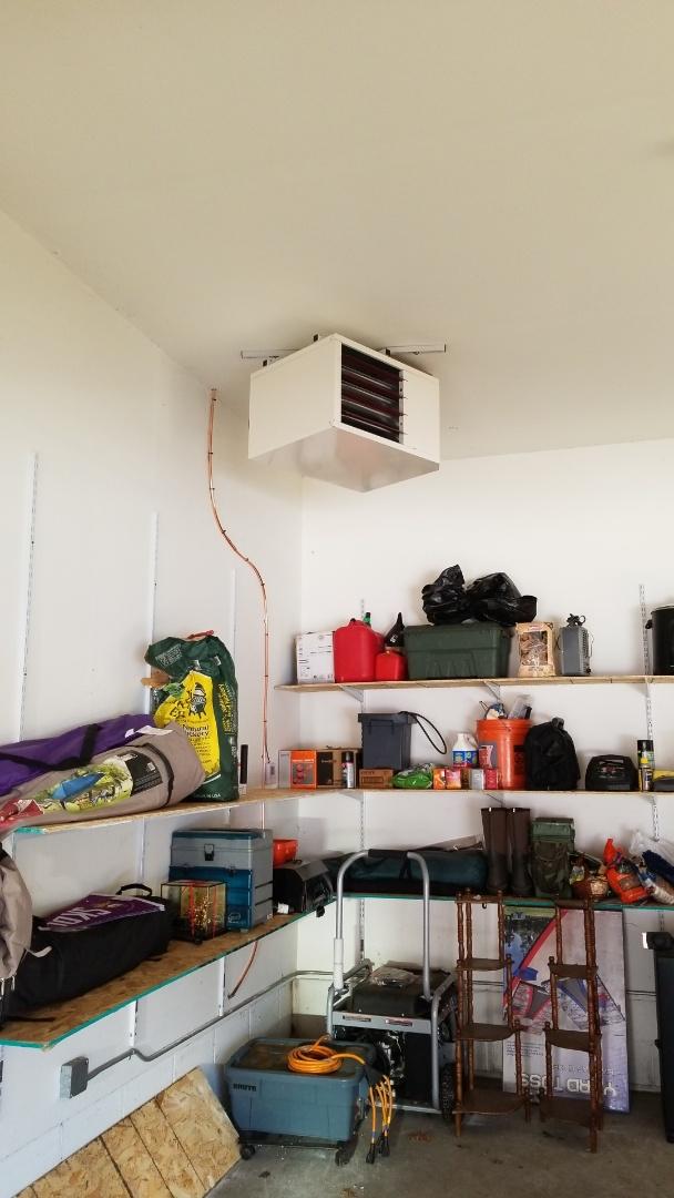 Minnetonka, MN - Installing garage heater in Minnetonka Minnesota