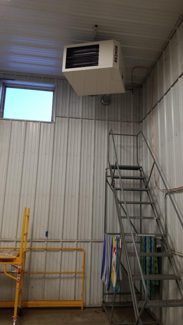 Waconia, MN - Installing garage heater in Waconia Minnesota
