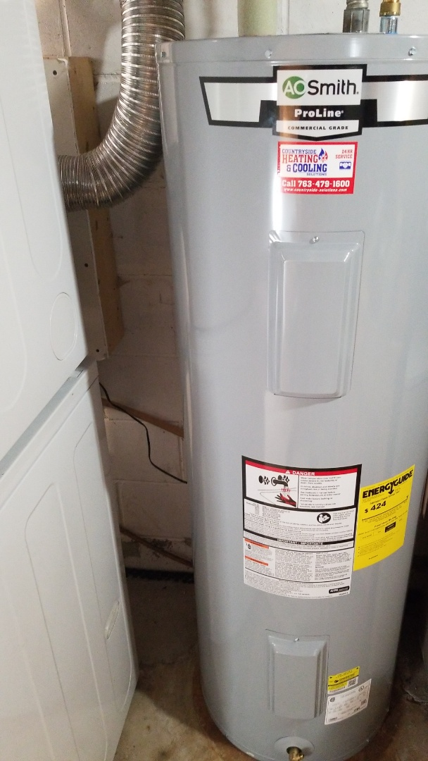 Mound, MN - Installing 50 gallon electric water heater in Mound