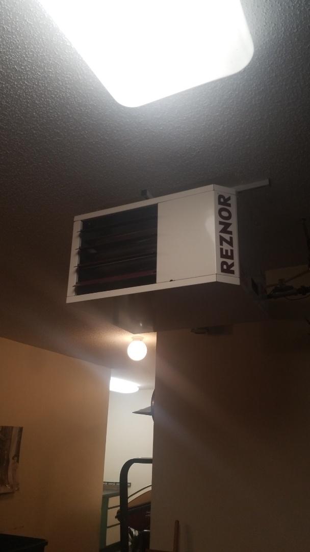 Wayzata, MN - Installing garage heater in Wayzata Minnesota