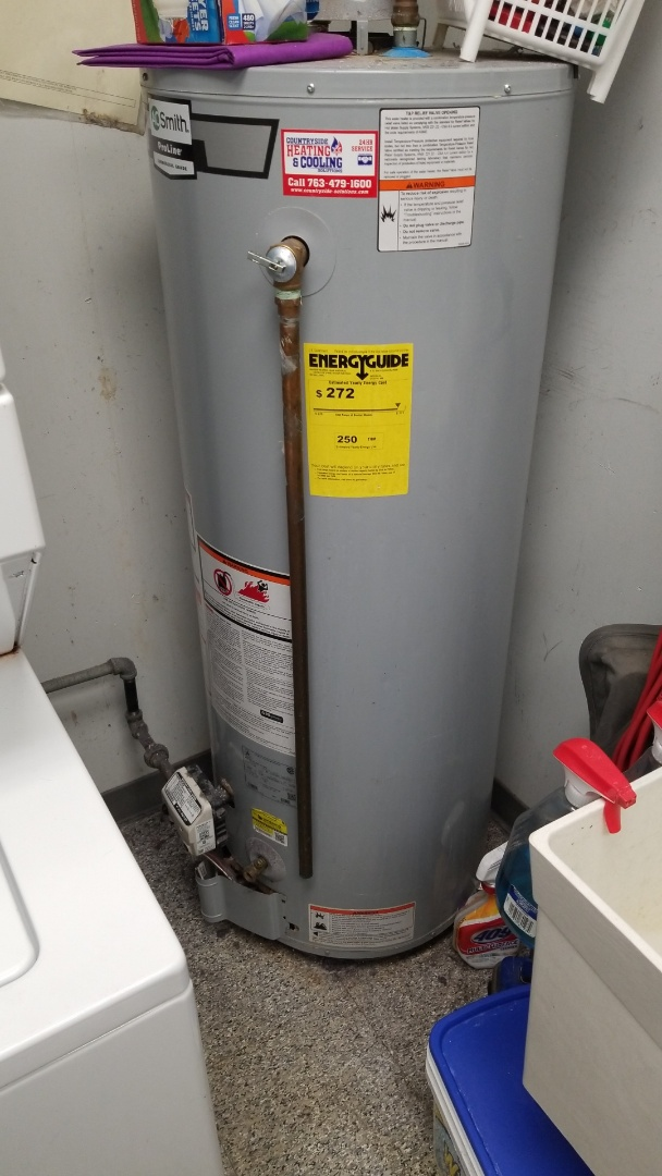 Edina, MN - Repairing water heater and changing filters on a rooftop unit in Edina Minnesota #