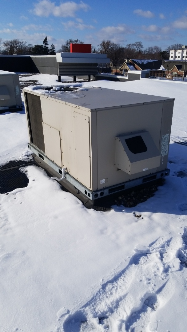 Richfield, MN - Changing air filters on rooftop unit and checking dryer vent in Richfield Minnesota #