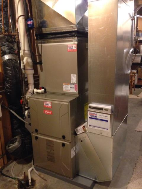 Minnetrista, MN - Diagnosed a failed burner set on a Bryant furnace at a home in mound, MN- returning with new heat exchanger