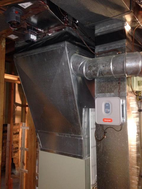 Prior Lake, MN - Installed Broan air exchanger and April air 600a humidifier in Prior Lake, MN
