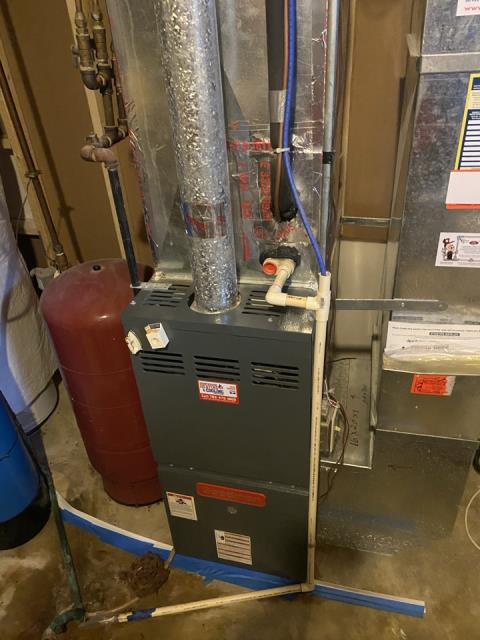 Eden Prairie, MN - Furnace tune up on Lennox furnace and replaced Honeywell zone damper in Eden prairie, MN