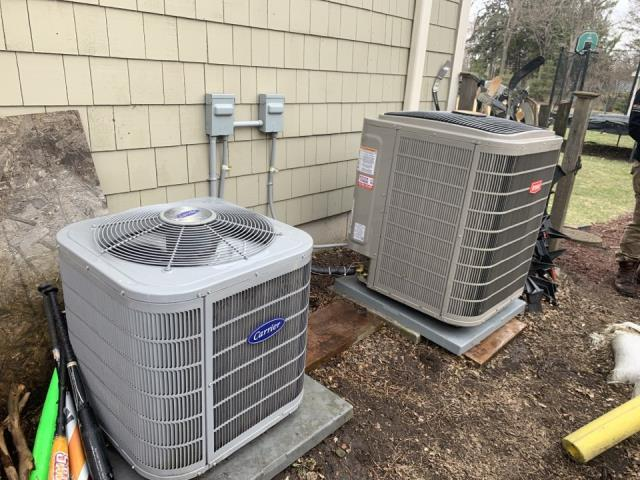 Excelsior, MN - Tuned up 2 air conditioners and installed a  condensate pump at a home in excelsior, MN! #