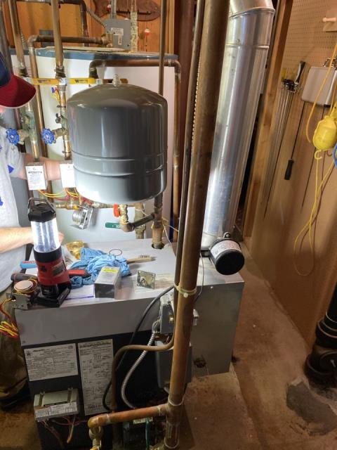 Loretto, MN - Tuned up and repaired a slant fin boiler at a home In Loretto, MN! #