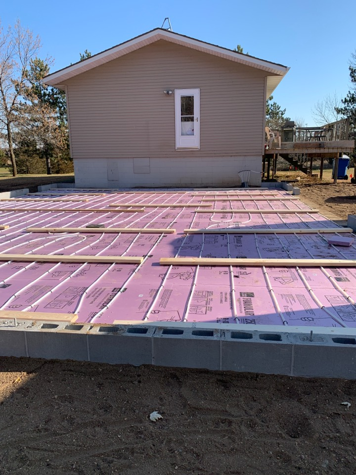 South Haven, MN - Installed in floor heat in south haven Minnesota