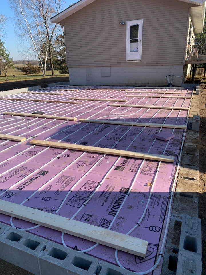 South Haven, MN - Install tubing for infloor heat in south haven MN
