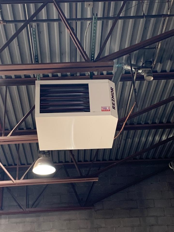 Chanhassen, MN - Install 2 new 200,000 btu reznor unit heaters in chanhassen MN