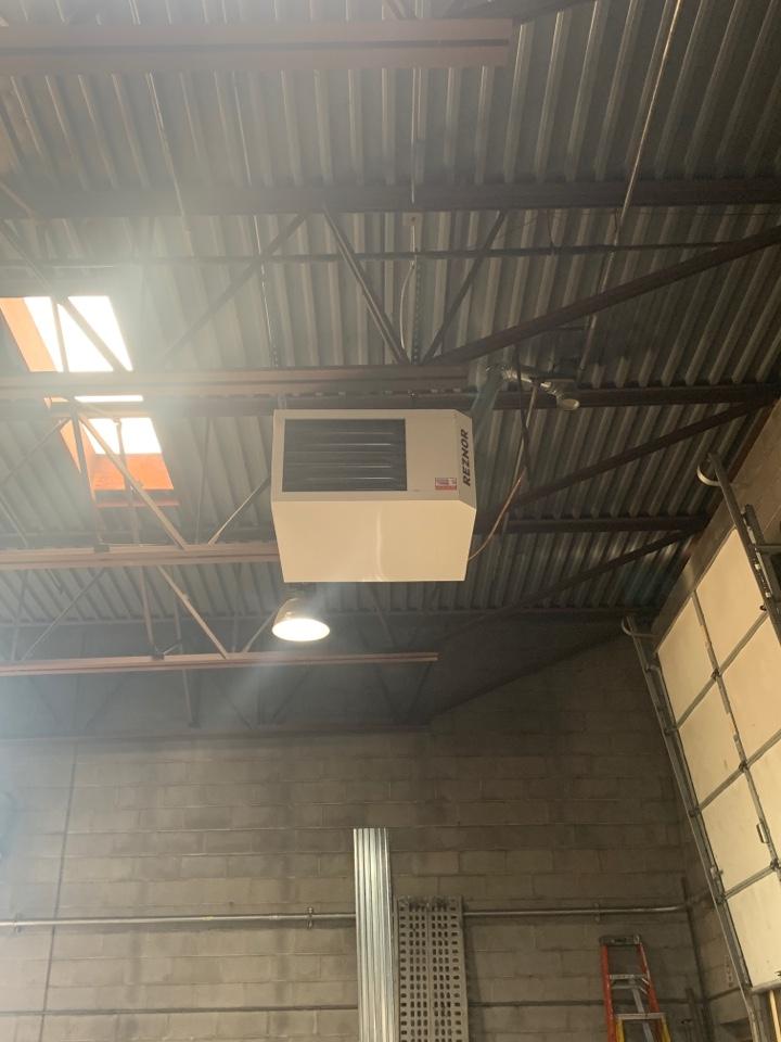 Chanhassen, MN - Installed two 200k btu garage heater in Changassen Minnesota