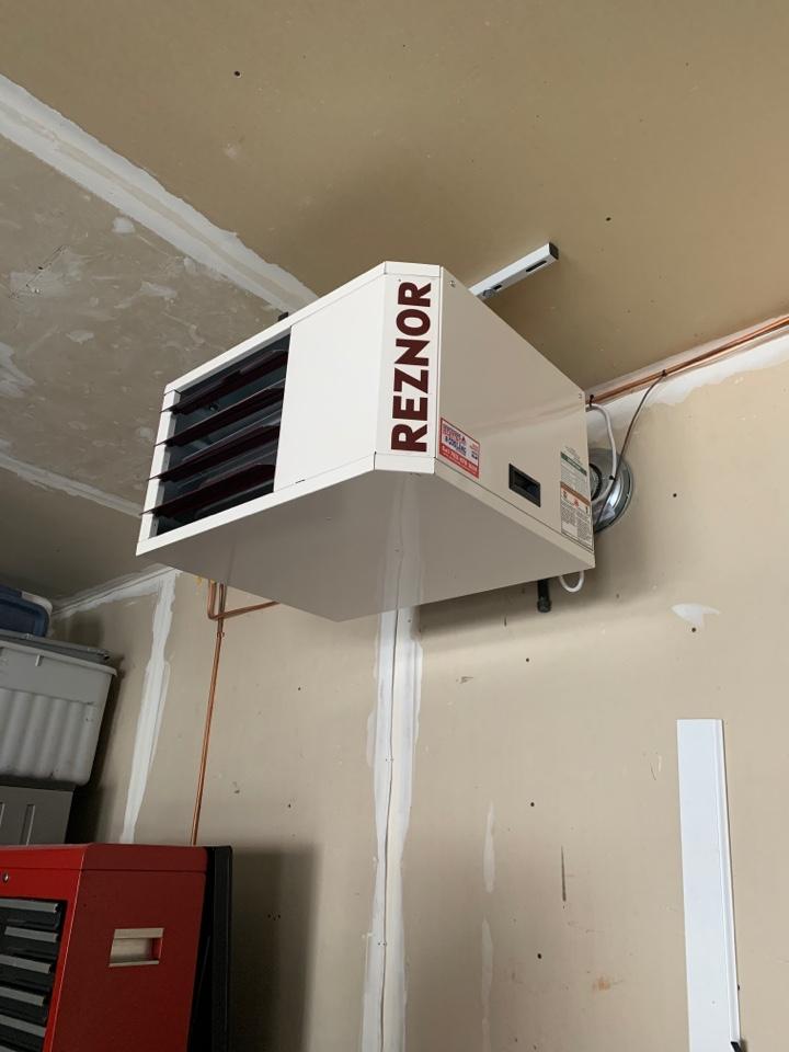 Mound, MN - Installed garage heater in minnetrista Minnesota
