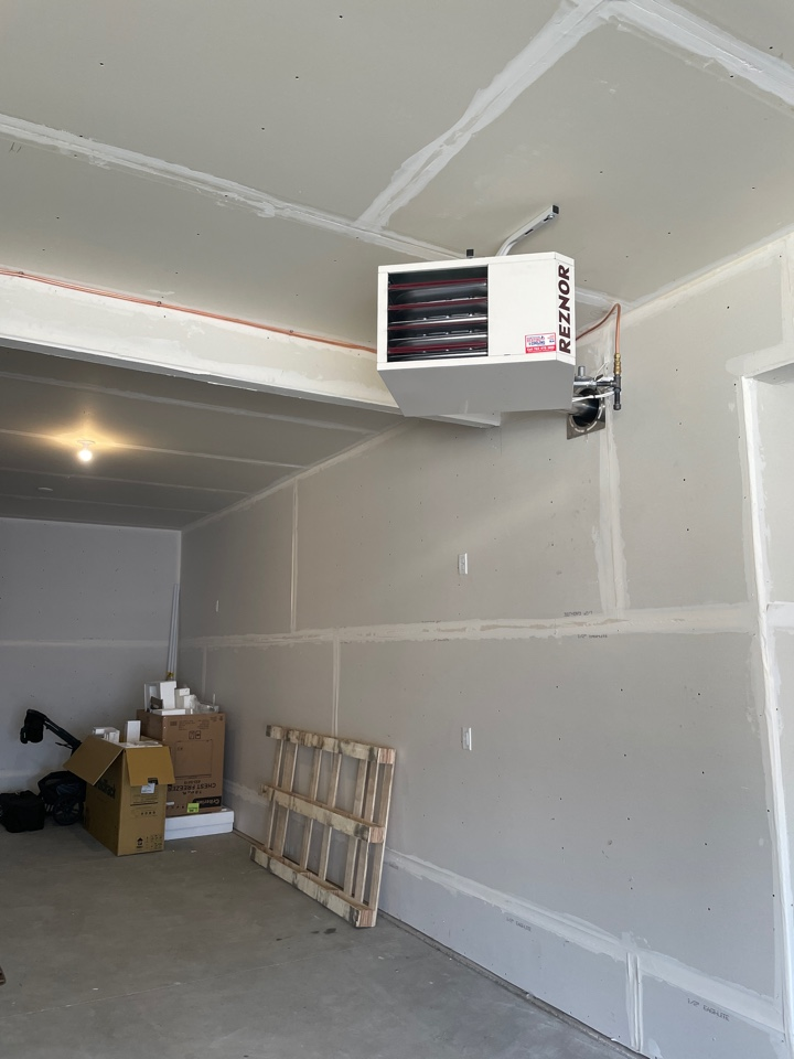 Plymouth, MN - Installed 75k garage heater in Plymouth Minnesota