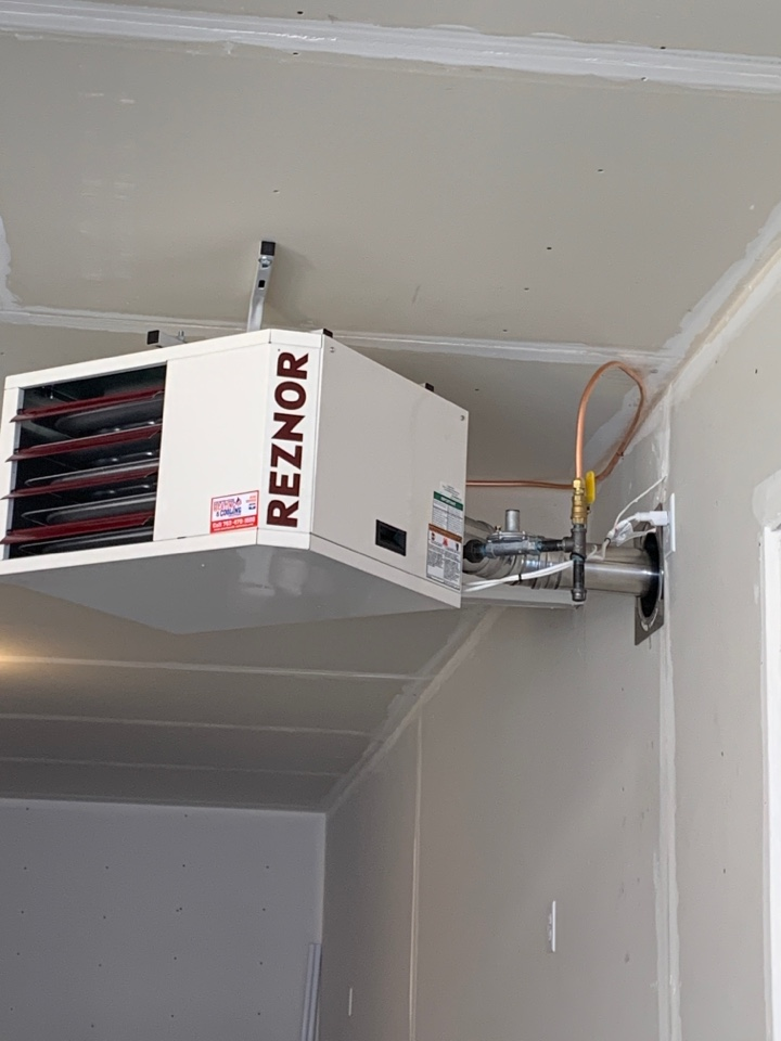 Plymouth, MN - Install new reznor garage heater in Plymouth MN
