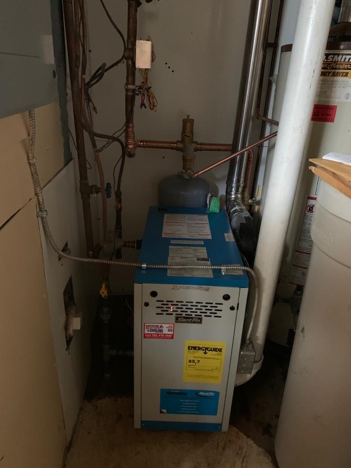 Mound, MN - Install new slant fin boiler in mound MN