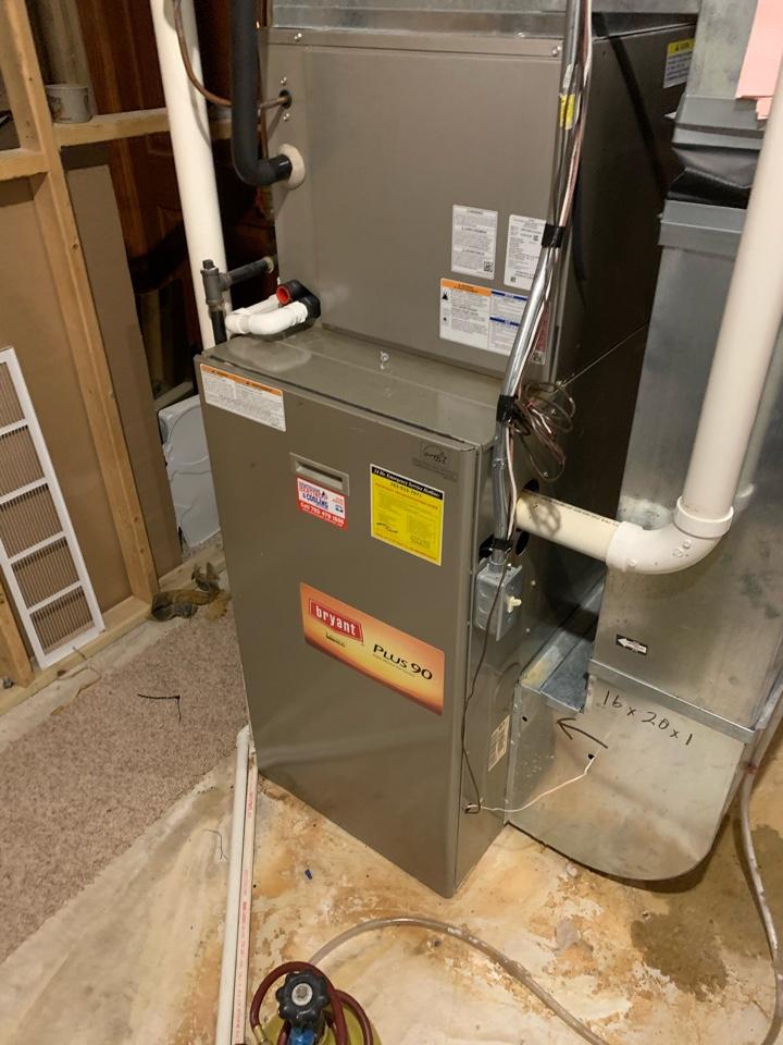 Rockford, MN - Performed a furnace maintenance in Rockford Mn