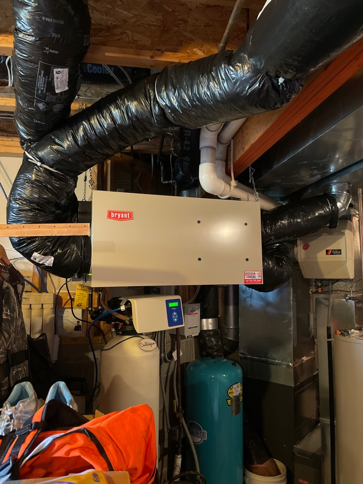 Shakopee, MN - Installed air exchanger and air purifier in shakopee Minnesota