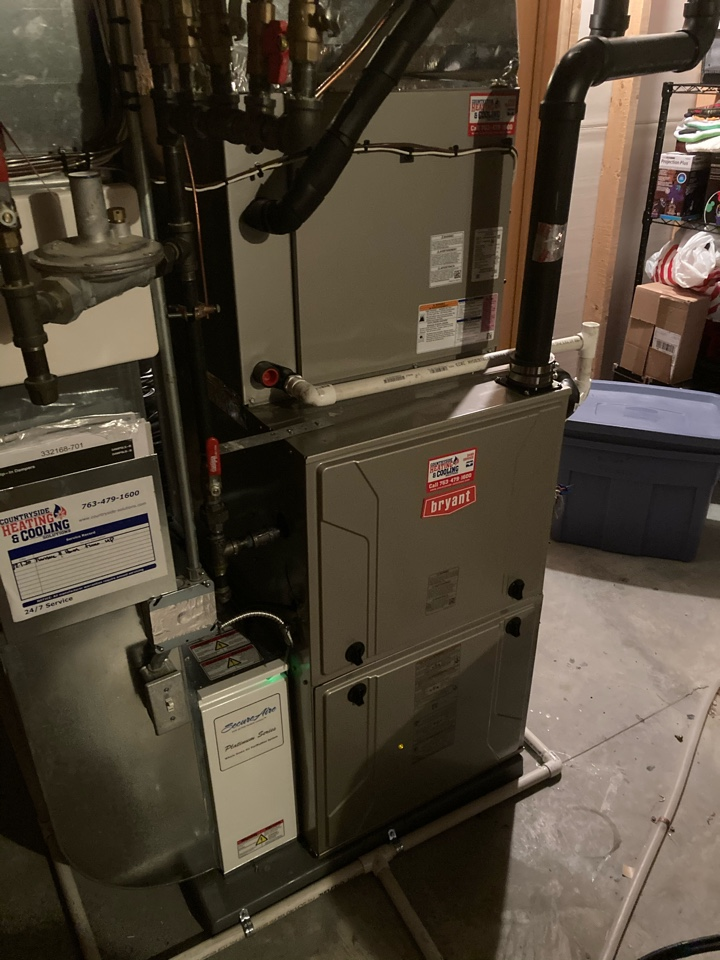 Maple Grove, MN - Bryant furnace and humidifier maintenance in Maple Grove