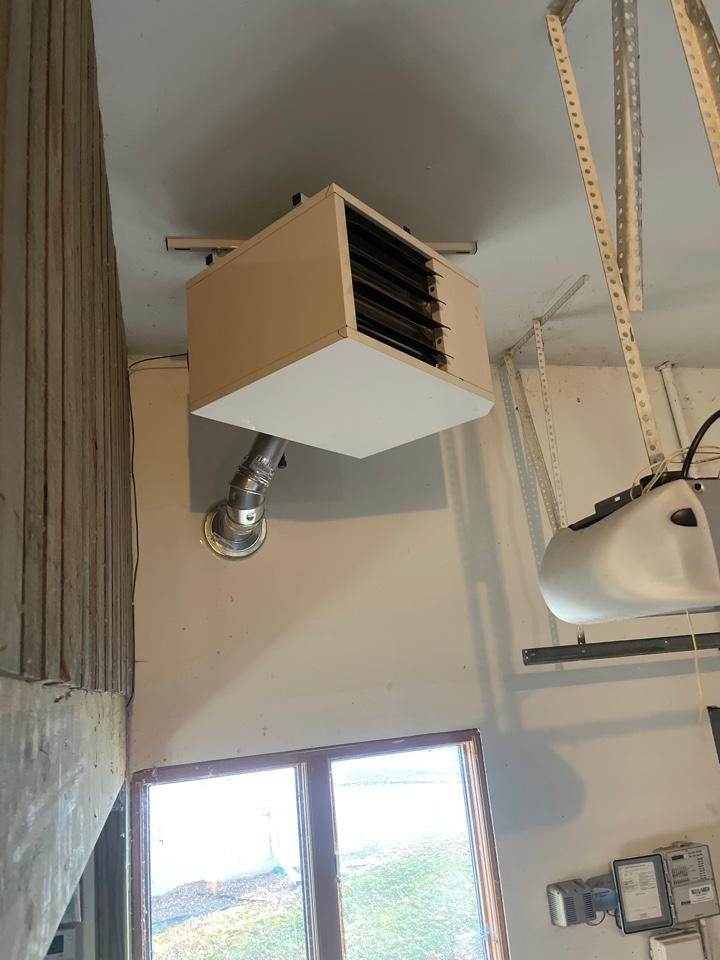 Minnetonka, MN - Relocated garage heater in Hopkins Minnesota #