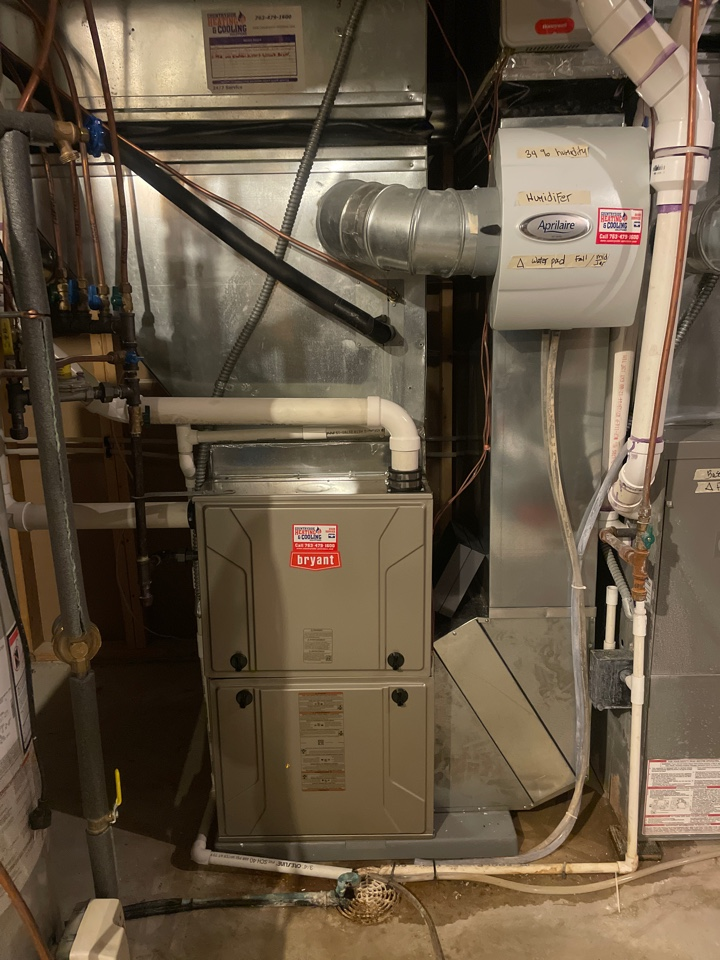 Minnetrista, MN - Installed 90% Bryant furnace in Minnetrista Minnesota #