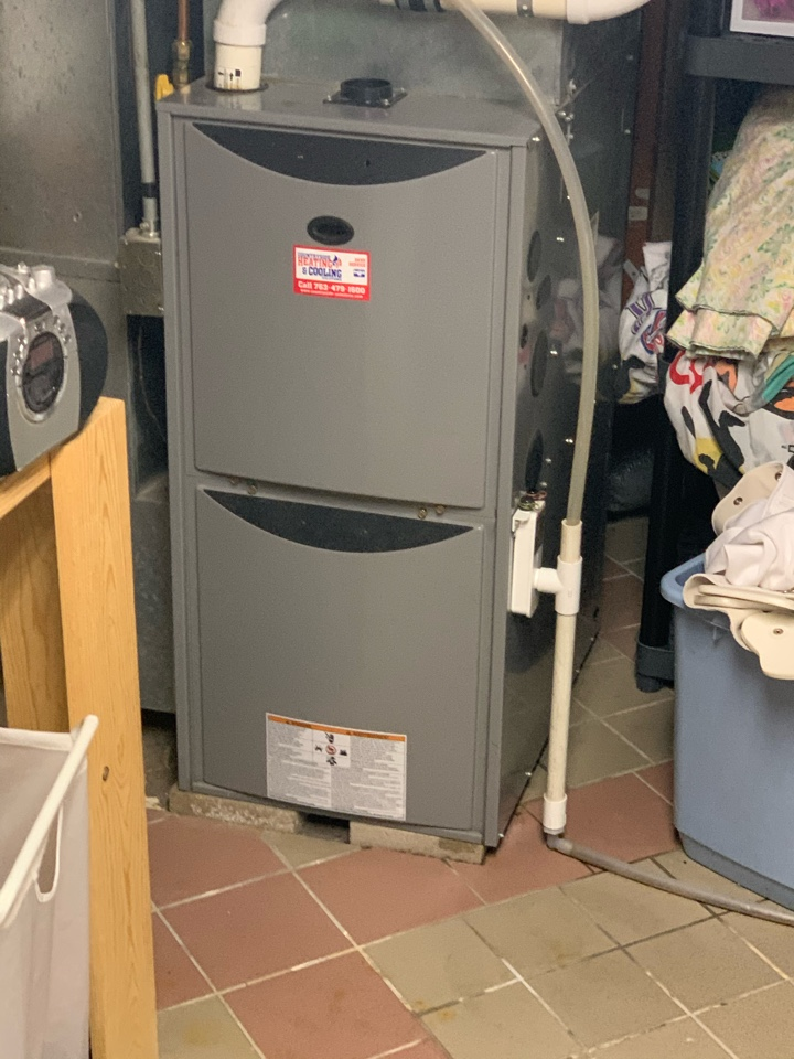 New Brighton, MN - Performed a furnace maintenance in new Brighton Mn