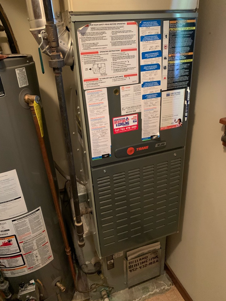 Minneapolis, MN - Performed a furnace maintenance in Plymouth Mn
