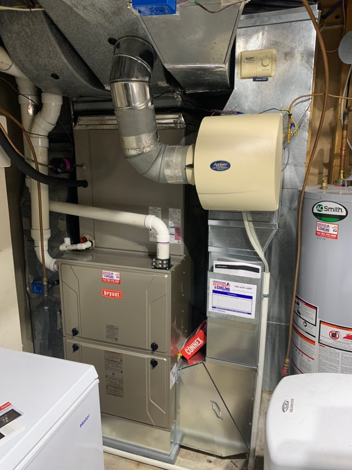 Minneapolis, MN - Install new Bryant evolution furnace and heat pump with connex thermostat in Plymouth MN