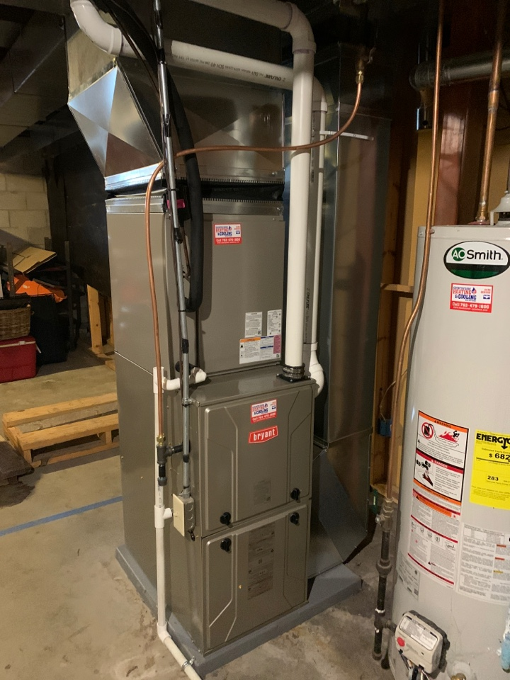 Watertown, MN - Install new Bryant preferred series furnace and air conditioner with Bryant thermostat in Watertown MN