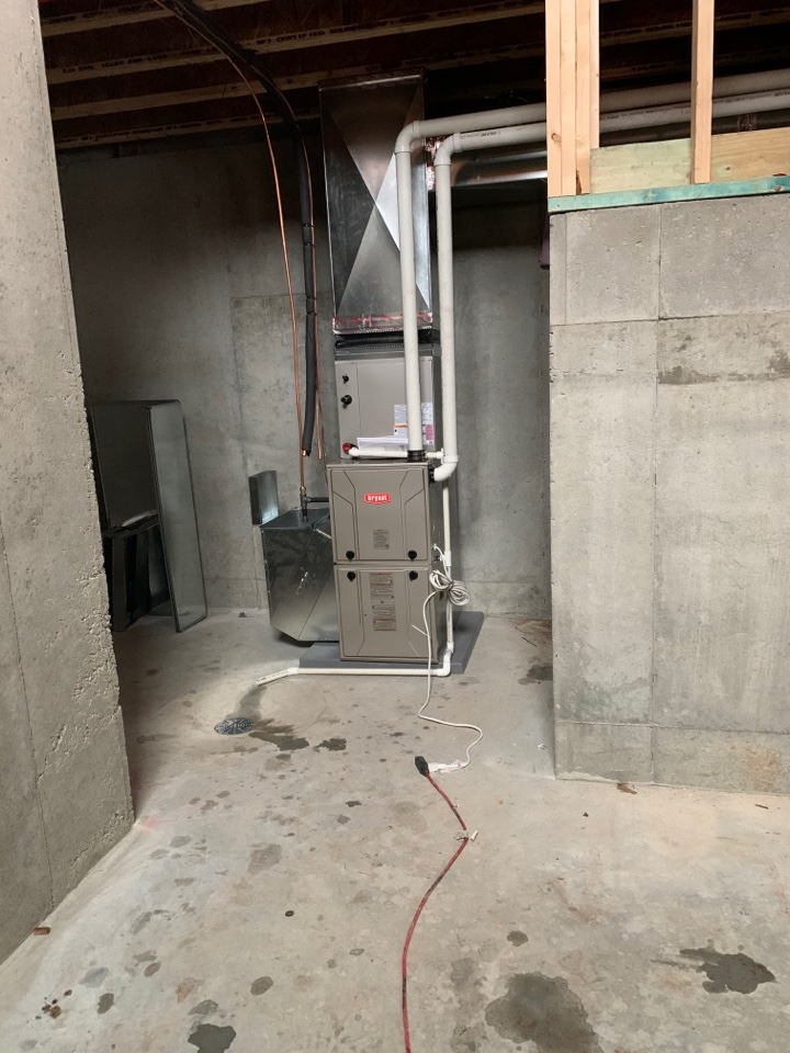Excelsior, MN - Install new Bryant furnace and air conditioner in remodel in Greenwood MN #