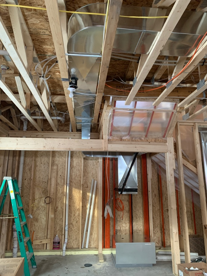 Annandale, MN - Install ductwork for new Bryant system on remodel in Annandale MN #