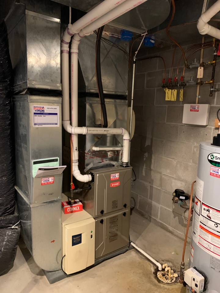 Wayzata, MN - Install new Bryant evolution furnace with zone system and connex thermostat in Minnetonka MN