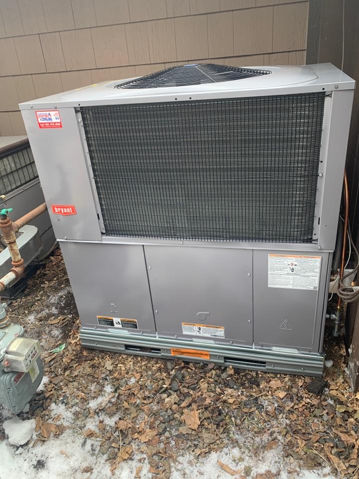 Wayzata, MN - Install Bryant furnace and a/c package unit in wayzata MN