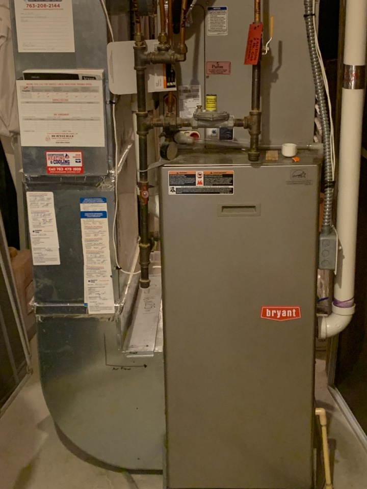 Minnetrista, MN - Furnace repair on a Bryant in minnetrista Mn