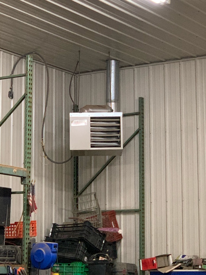 Cologne, MN - Replaced inducer motor on shop heater in cologne Mn