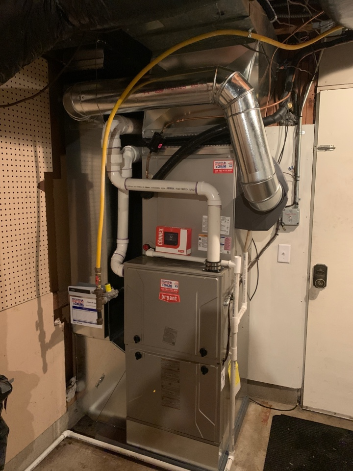 Eden Prairie, MN - Install new Bryant evolution furnace and air conditioner with humidifier and connex thermostat in Eden prairie MN