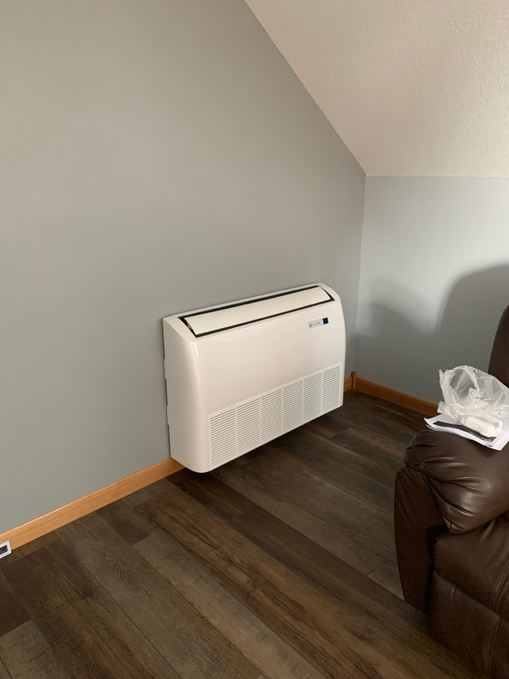 South Haven, MN - Install new Bryant duct less heat pump in south haven MN