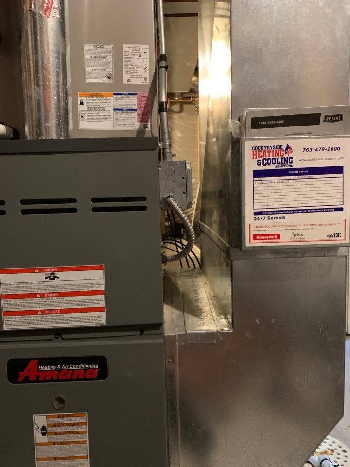 Victoria, MN - Performed a furnace maintenance in Victoria Mn