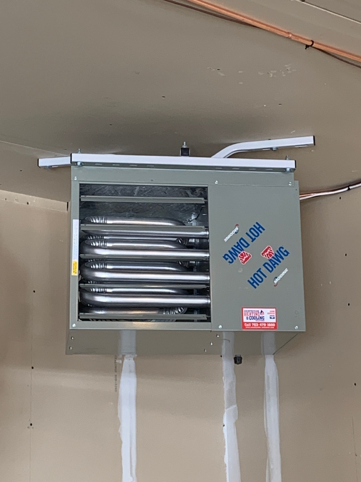 Maple Grove, MN - Install new unit heater in garage in maple grove MN