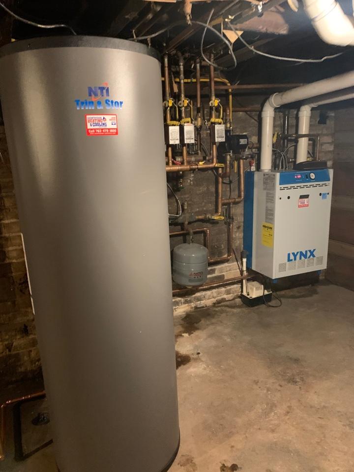 Saint Bonifacius, MN - Install new NTI indirect water heater in st Boni MN #