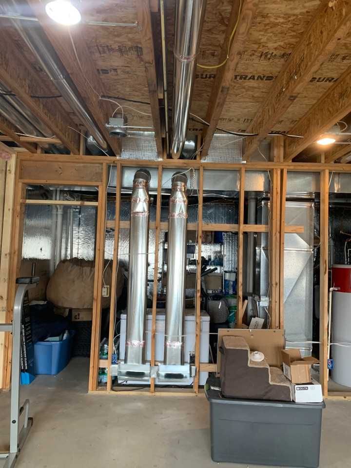 Chaska, MN - Rough in ductwork for basement in Chaska, MN