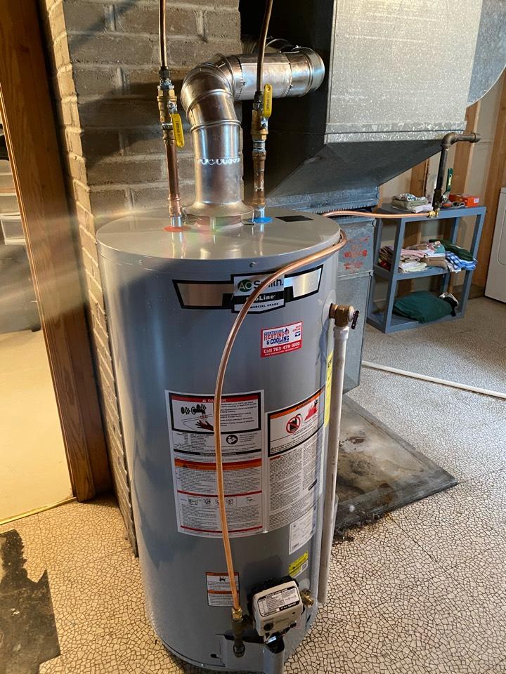 Watertown, MN - Ao smith water heater install Watertown MN