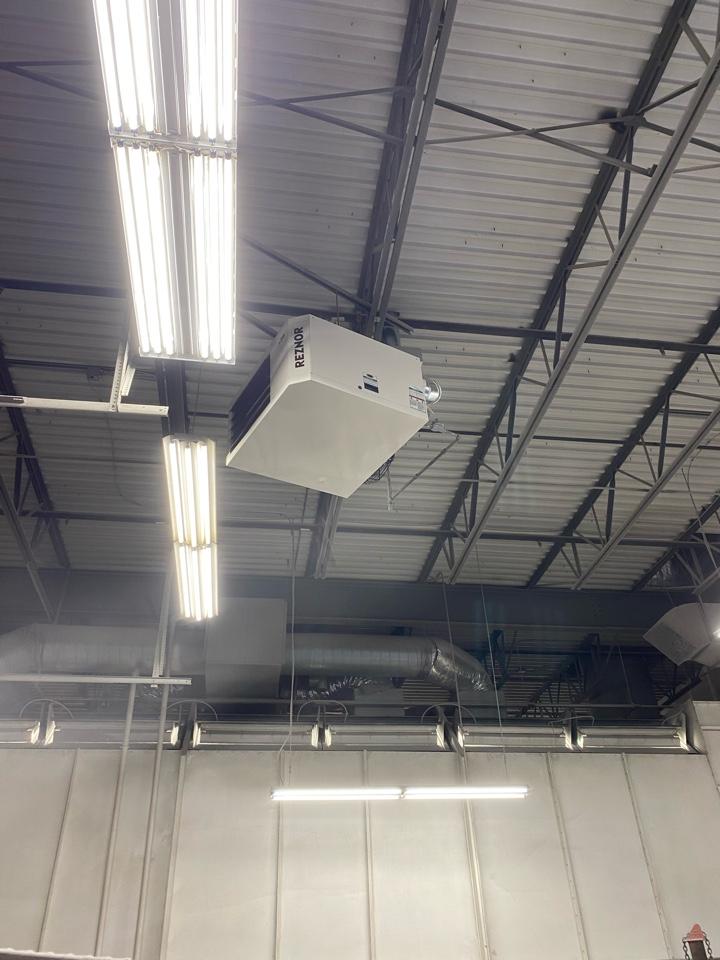 Fridley, MN - Reznor unit heater install Fridley MN