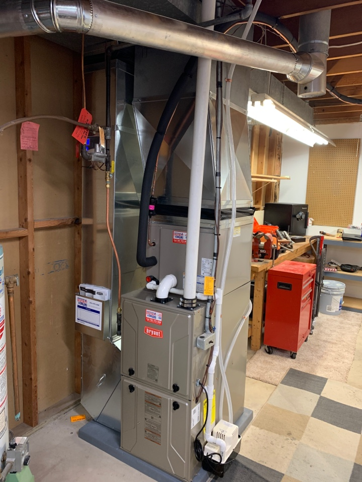Plymouth, MN - Install new Bryant furnace and air conditioner in Plymouth MN