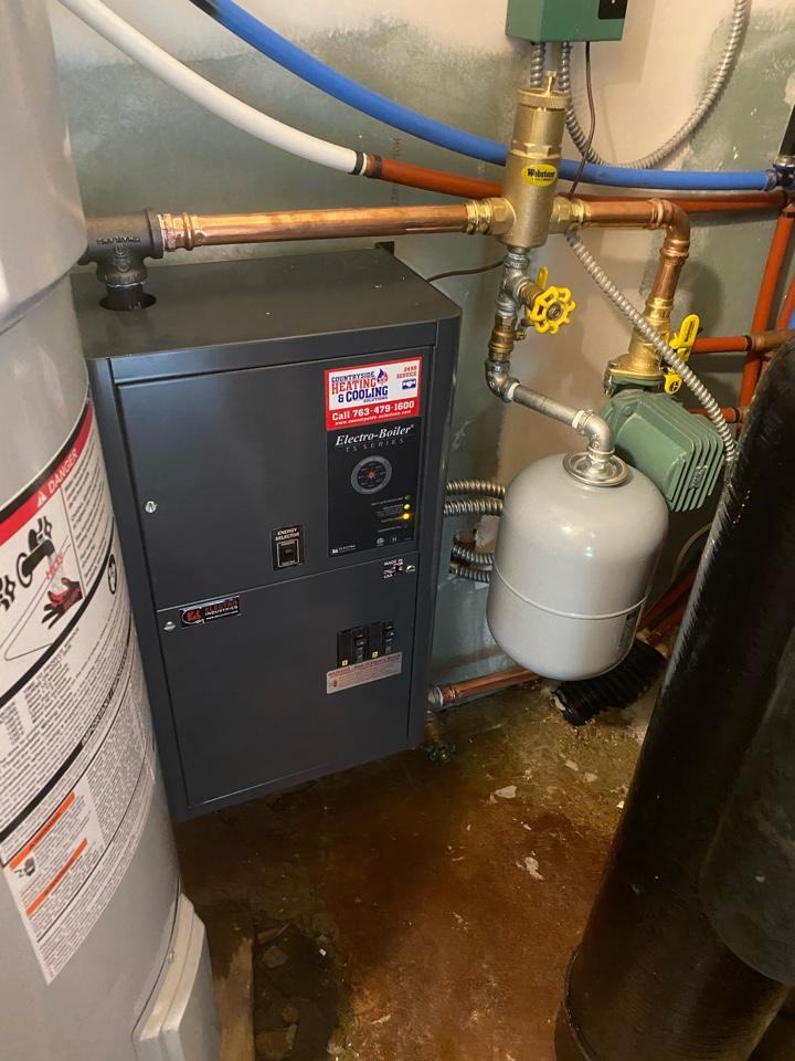 Maple Lake, MN - Boiler install Maple lake MN