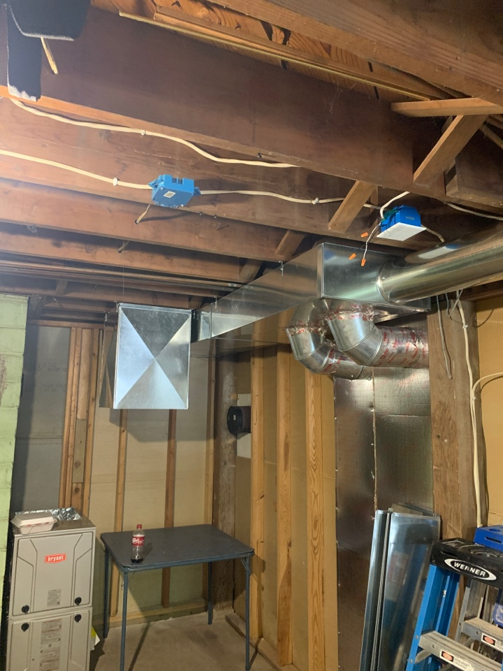 Mound, MN - Install ductwork for remodel in orono MN